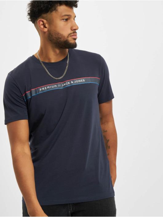 Jack & Jones T-Shirty Jprblaline Crew Neck niebieski