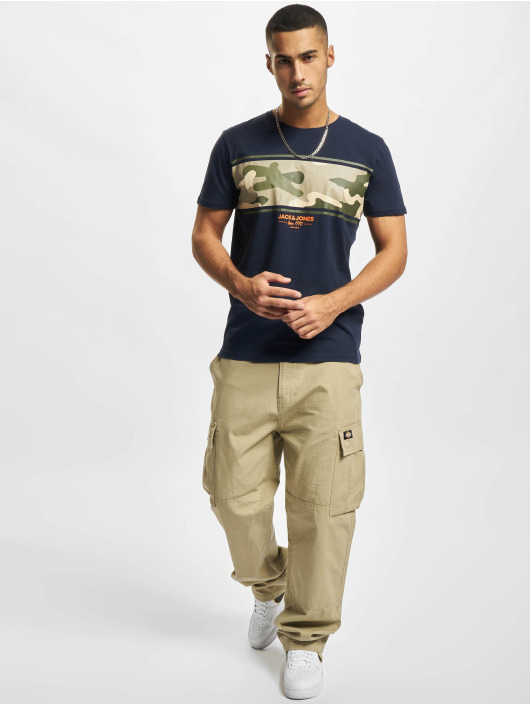 Jack & Jones T-Shirty Jjsoldier niebieski