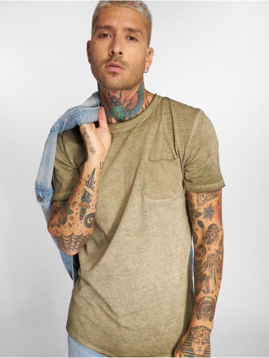 Jack & Jones T-Shirty jorJack Crew Neck oliwkowy