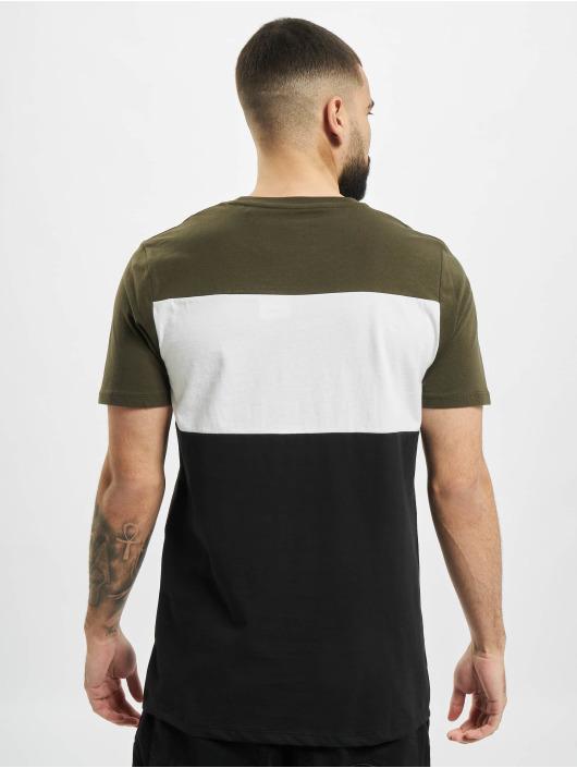 Jack & Jones T-Shirty jjeLogo Blocking Noos oliwkowy