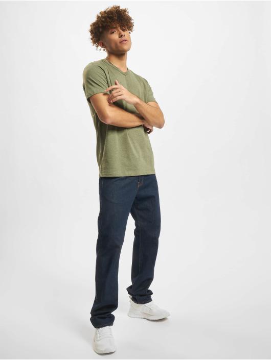 Jack & Jones T-Shirty Jprblubowery V Neck oliwkowy