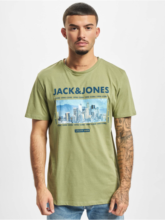 Jack & Jones T-Shirty Jcobooster oliwkowy