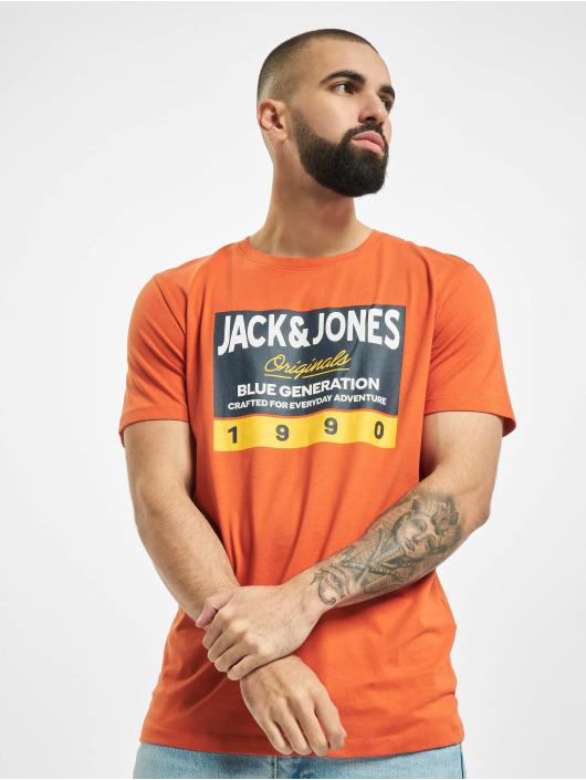 Jack & Jones T-Shirty jorTonni pomaranczowy
