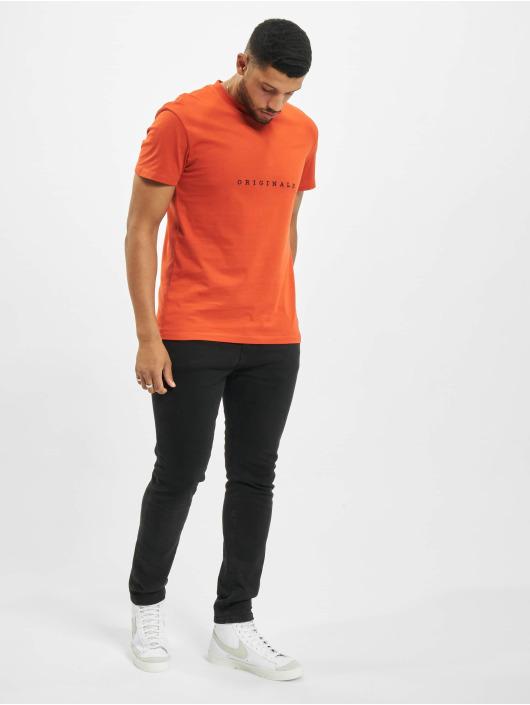 Jack & Jones T-Shirty jorCopenhagen pomaranczowy