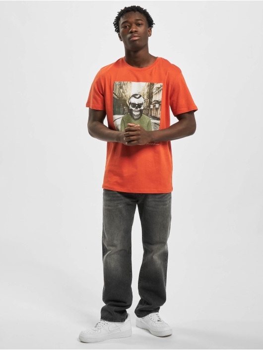 Jack & Jones T-Shirty jorSkulling pomaranczowy