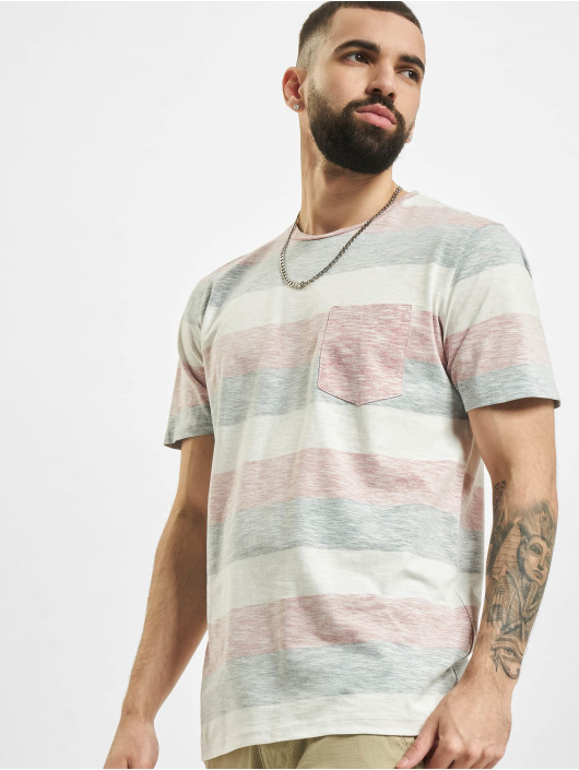 Jack & Jones T-Shirty jjStripe rózowy