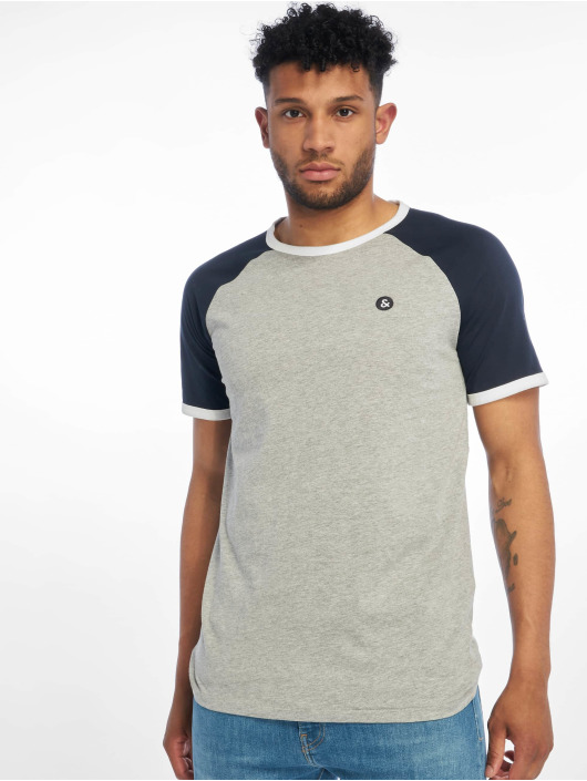 Jack & Jones T-Shirty jorRetroraglan szary