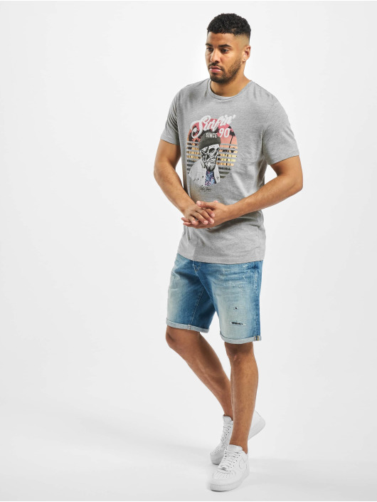 Jack & Jones T-Shirty jorRicky szary