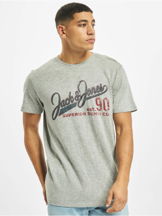 Jack & Jones T-Shirty jj30Jones Slub szary