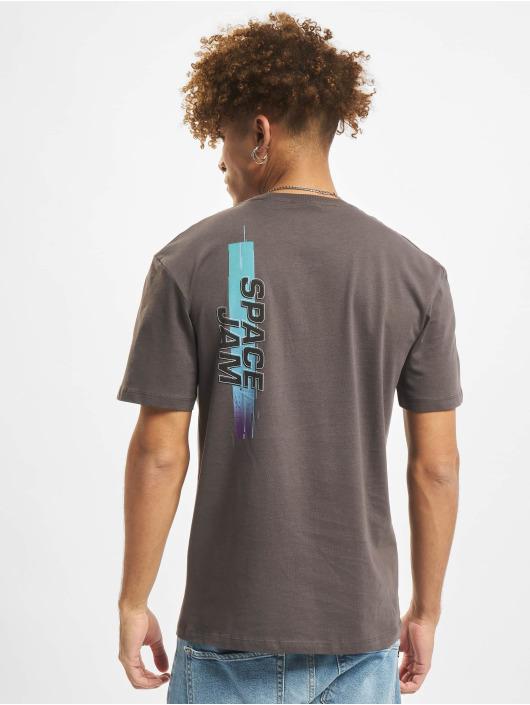 Jack & Jones T-Shirty Jcospace Jam Print Crew Neck szary