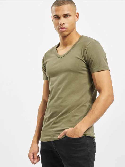 Jack & Jones T-Shirty jjeBasic zielony