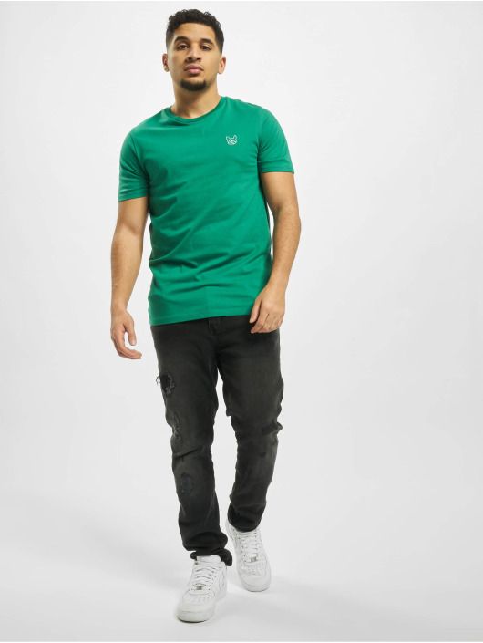 Jack & Jones T-Shirty jjeDenim Logo O-Neck Noos zielony