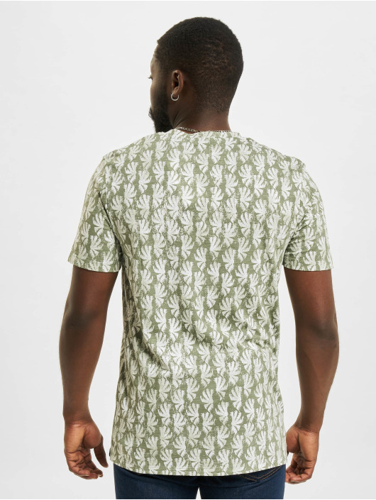 Jack & Jones T-Shirty JOR Sunny AOP zielony