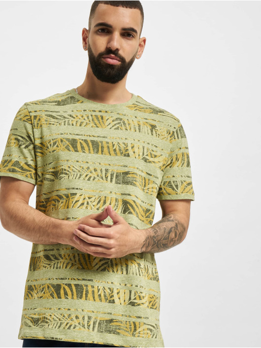 Jack & Jones T-Shirty JPR Bludust Placement Stripe zielony