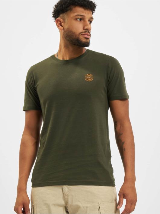 Jack & Jones T-Shirty Jjeorganic O-Neck zielony