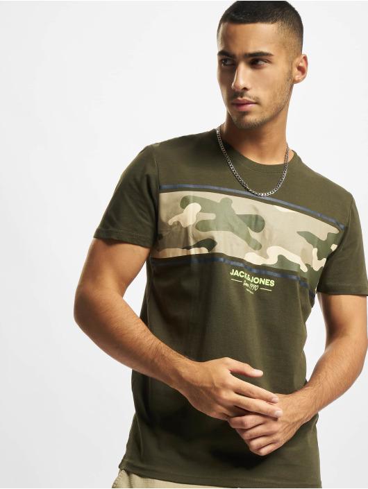 Jack & Jones T-Shirty Jjsoldier zielony