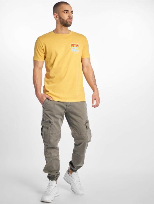 Jack & Jones T-Shirty jorSurfsoul zólty