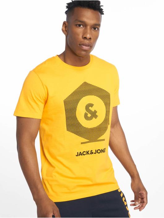 Jack & Jones T-Shirty jcoClo zólty