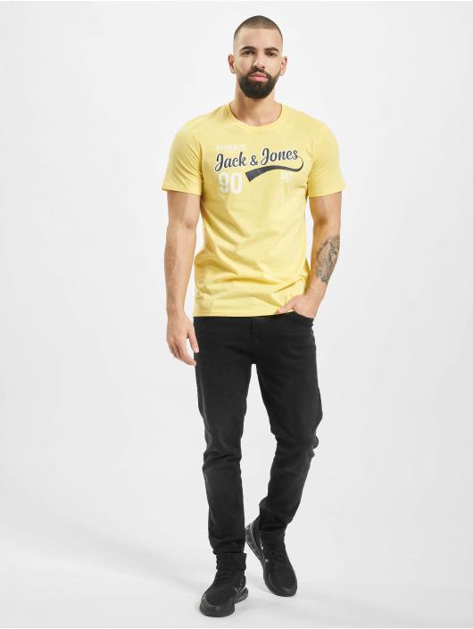 Jack & Jones T-Shirty jjeLog zólty