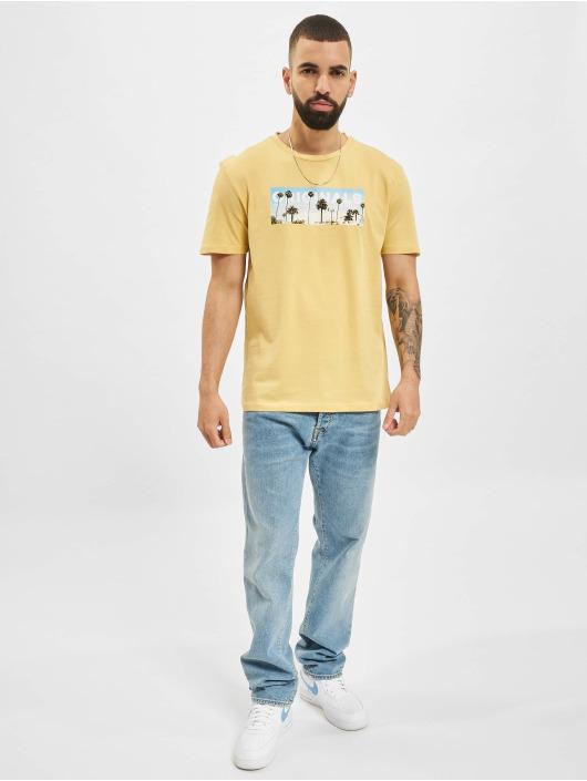 Jack & Jones T-Shirty JOR Azure zólty