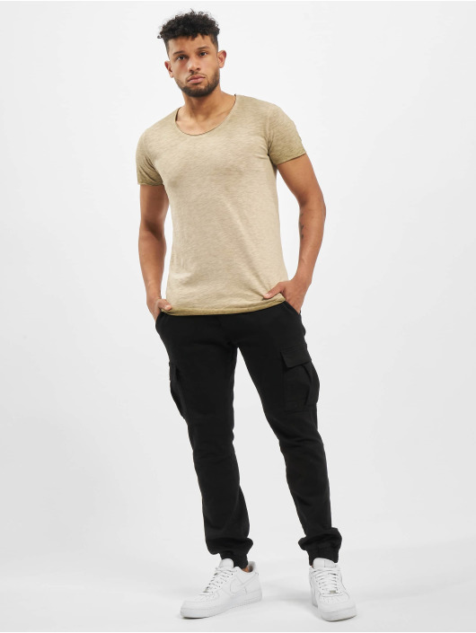 Jack & Jones T-skjorter jorBas Black beige