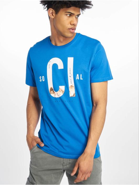 Jack & Jones T-skjorter jcoSpring-Feel blå