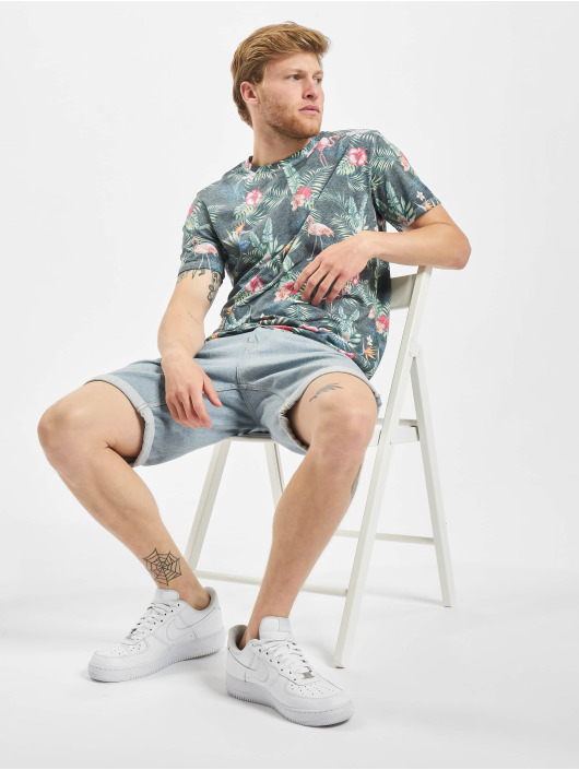Jack & Jones T-skjorter jorTropicalbirds blå