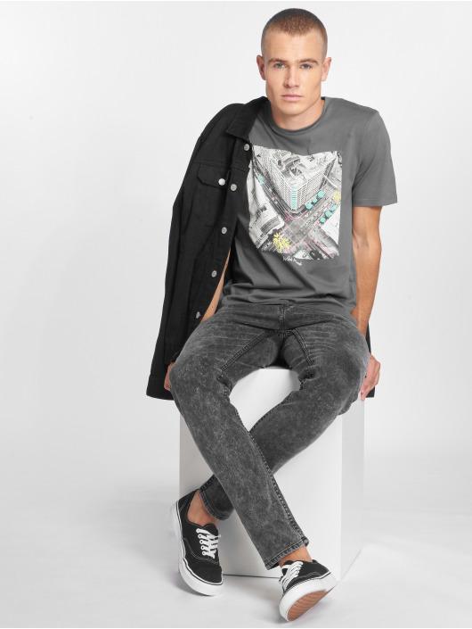 Jack & Jones T-skjorter jorRailroad grå