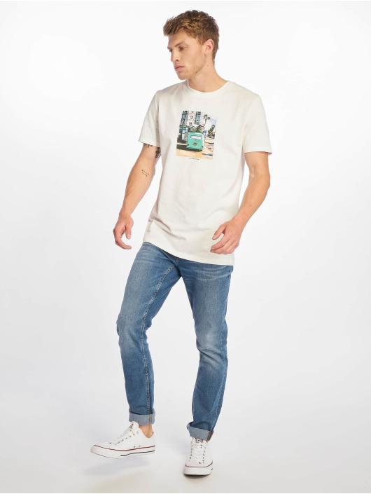 Jack & Jones T-skjorter jorTheo hvit