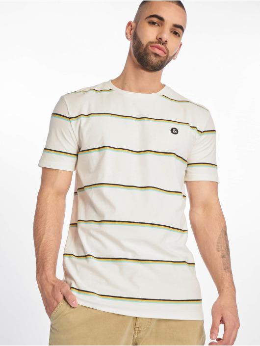 Jack & Jones T-skjorter jorHerringbone hvit