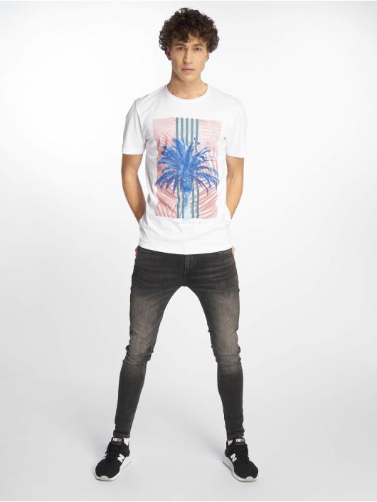 Jack & Jones T-skjorter Jorfaster Crew Neck Jan 19 hvit