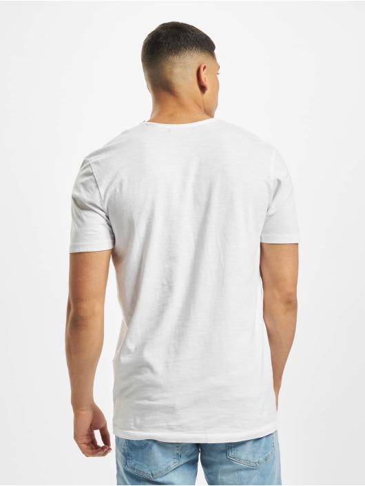 Jack & Jones T-skjorter jprWayn Bla. hvit