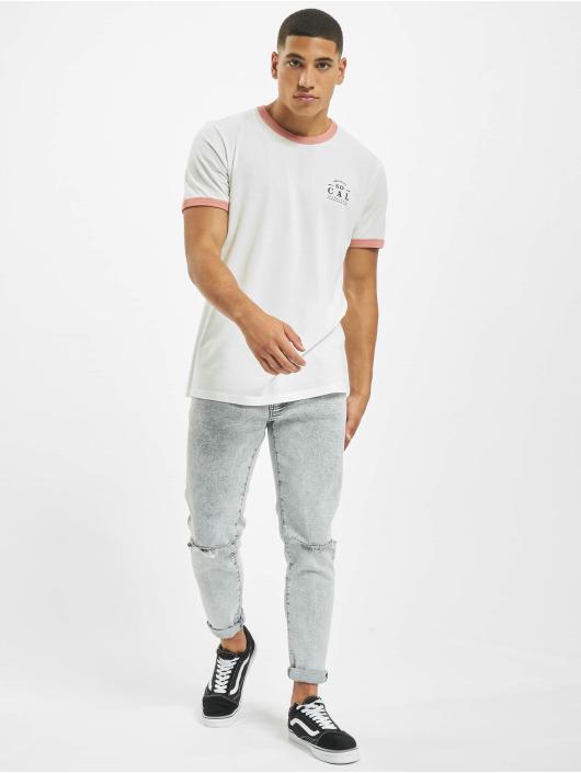 Jack & Jones T-skjorter jorCalli Ringer Organic hvit