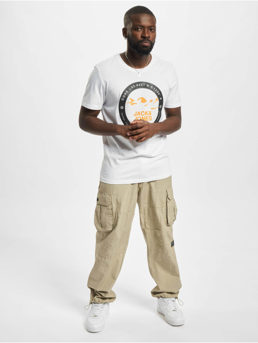 Jack & Jones T-skjorter Jcobilo Crew Neck hvit