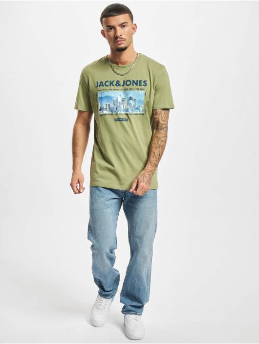 Jack & Jones T-skjorter Jcobooster oliven