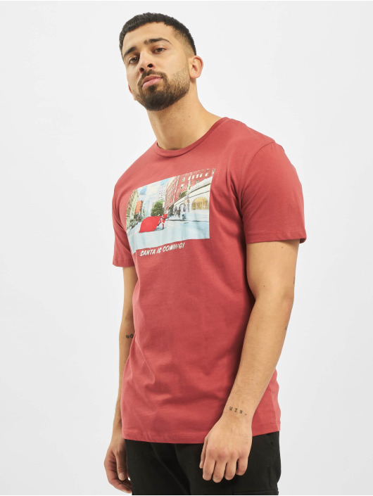 Jack & Jones T-skjorter jorSantaparty red