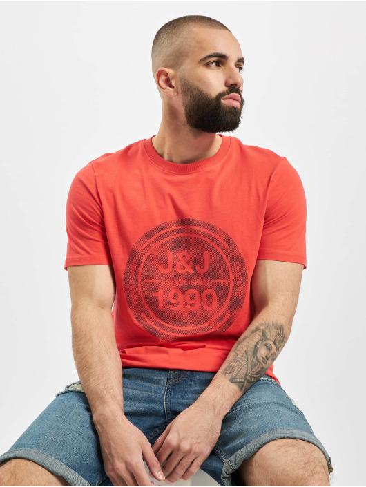 Jack & Jones T-skjorter jcoTate Crew Neck red