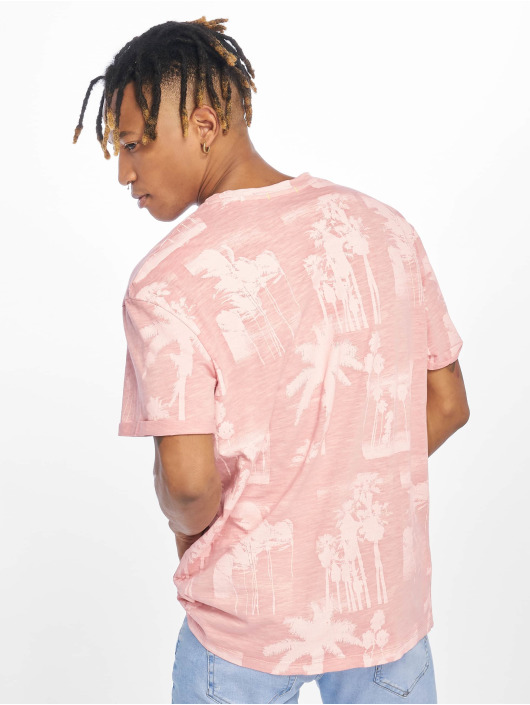 Jack & Jones T-skjorter jorPhotopalm rosa