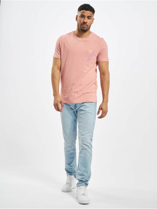 Jack & Jones T-skjorter jorSign rosa