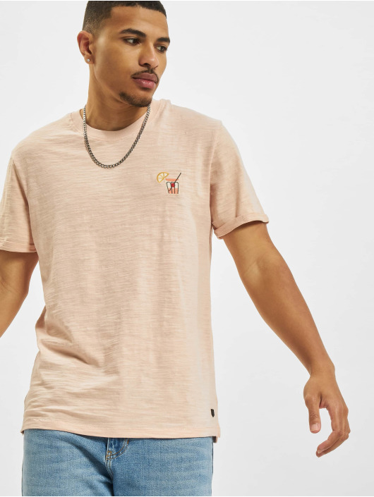 Jack & Jones T-skjorter Jprblabeach Embroidery rosa