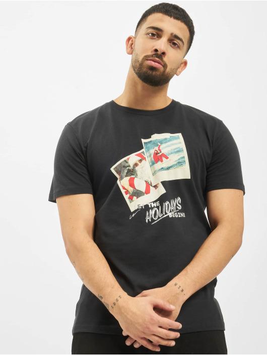Jack & Jones T-skjorter jorSantaparty svart