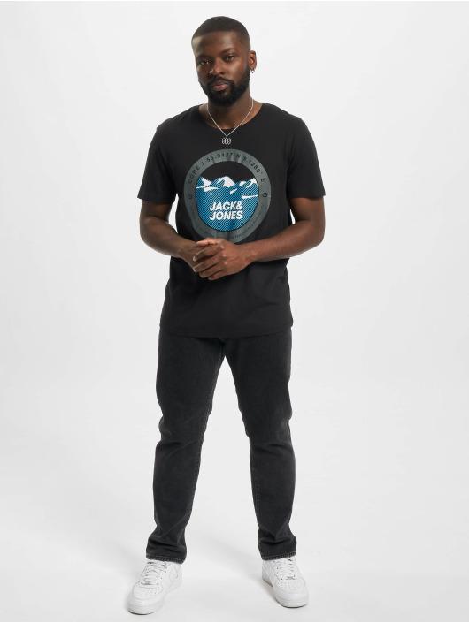Jack & Jones T-skjorter Jcobilo Crew Neck svart