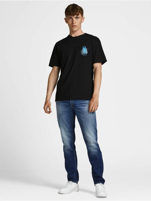 Jack & Jones T-skjorter Jcospace Jam Print Crew Neck svart
