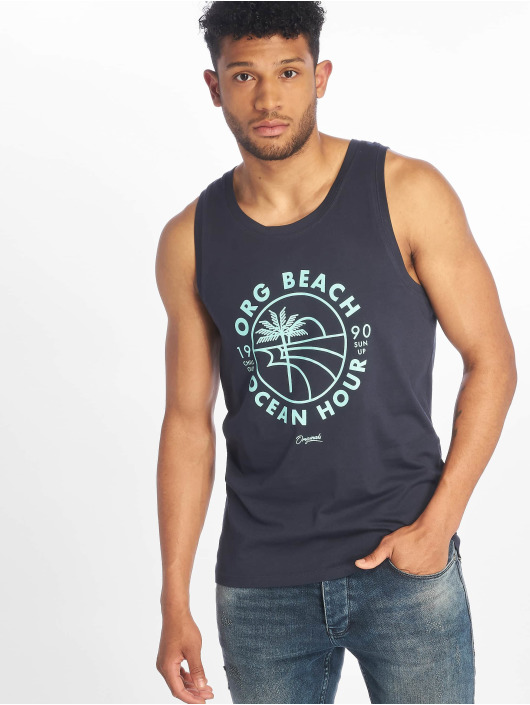 Jack & Jones Tank Tops jorShaden modrá