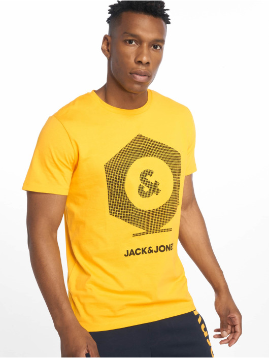 Jack & Jones Tričká jcoClo žltá
