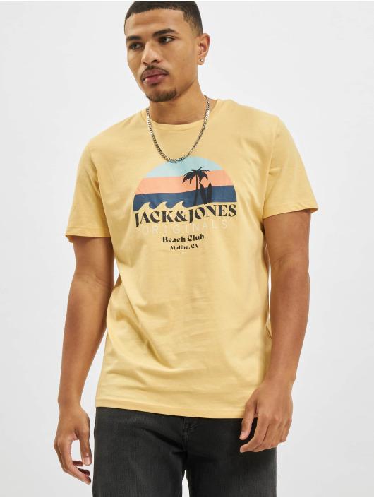 Jack & Jones Tričká Jorcabana Crew Neck žltá