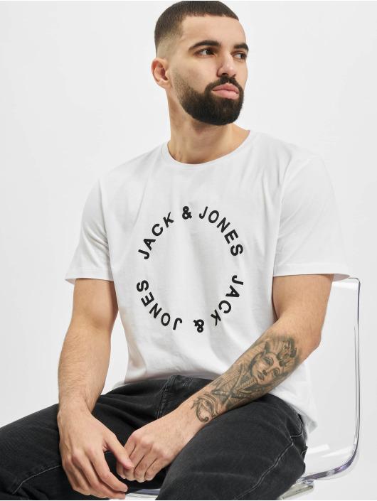 Jack & Jones Tričká jjCircle Flock biela