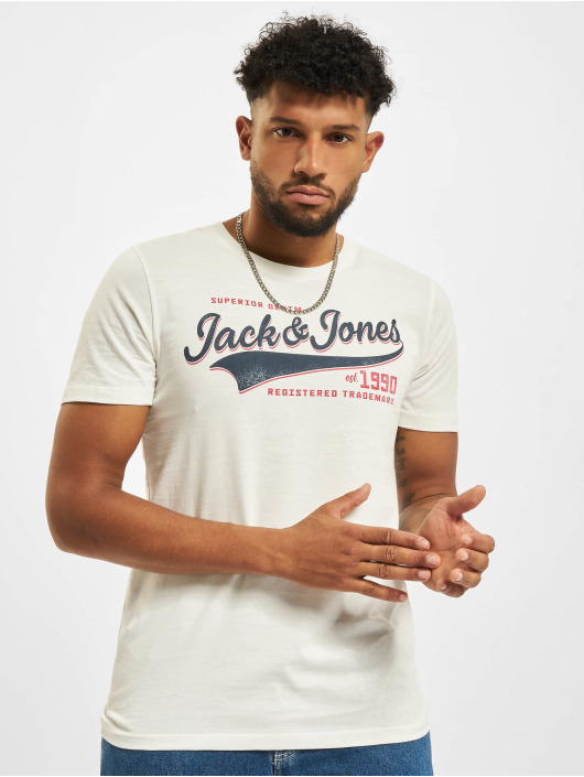 Jack & Jones Tričká Jjelogo O-Neck biela