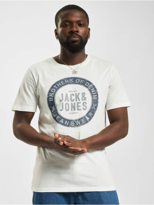 Jack & Jones Tričká Jjejeans O-Neck biela