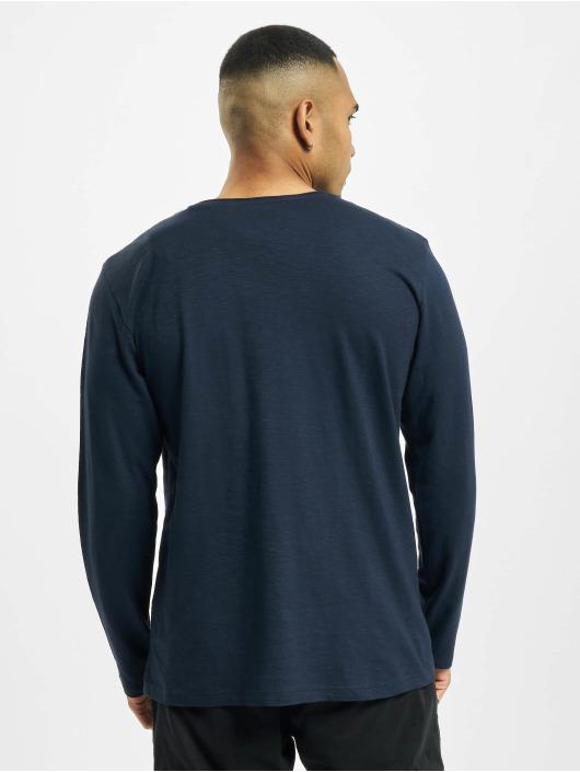 Jack & Jones Tričká dlhý rukáv jorAutumn Organic modrá